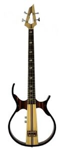 SILENT BASS GUITAR Sandalwood Hollow Body Electric-Acoustic Headphones Included
