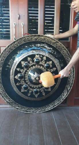 Thai Gongs 100 cm (2 pieces ,Hand-made Handicrafts from Thailand)