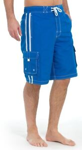Mens Board Swim Surf Shorts Trunks Summer Beach Shorts Turq Blue Navy S M L XL