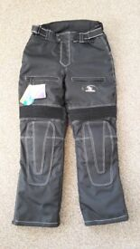 """""""Koord"""" Black motorcycle trousers size small BNWT"""