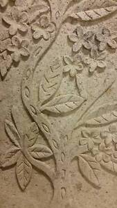 Carved Stone Wall Plaque - Beautiful solid garden art ! Rozelle Leichhardt Area Preview