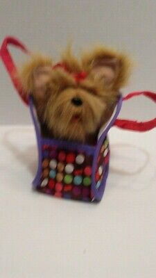 FurReal Friends Teacup  Yorkie Puppy Pink Bow Barks and Moves Head Hasbro - Furreal Friends Teacup