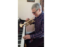 Piano, trumpet, cornet, other brass lessons for beginners/improvers