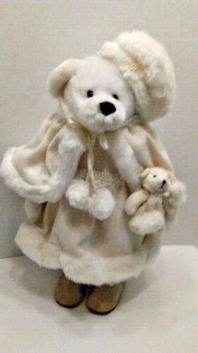 """Freestanding 20"""" White Bear with Baby Bear by Creative Design"""