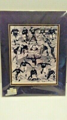 1947 Notre Dame Matted Football Team Collage