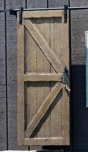"""Farmhouse Barn Doors Hideaway w/Track Rustic Wood Barn Door 48"""" x 19"""" set of 2"""