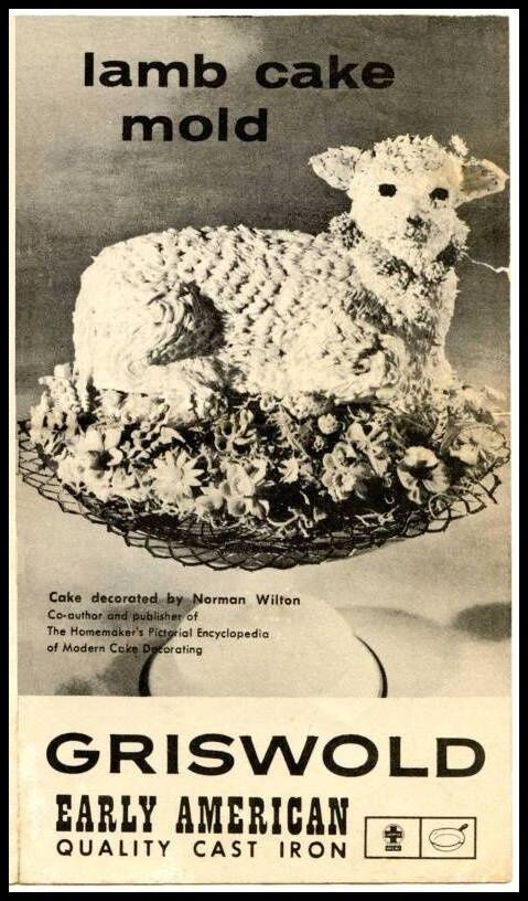 Griswold Easter Lamb Cake Cast Iron Mold 866 Owner's Manual