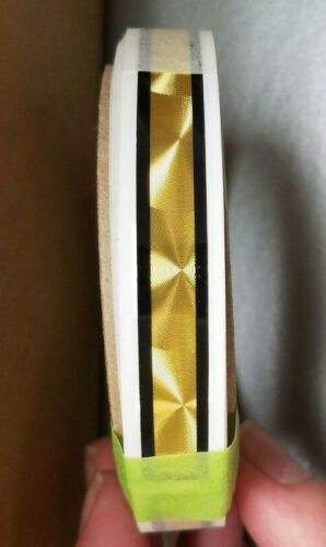 "1/4"" Gold Coburn Striping w/ Black Border, 13"