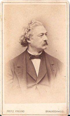 Fritz Freund CDV Foto Herrenportrait - Braunschweig 1870er
