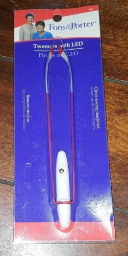 Fons & Porter Tweezers with LED! Item #7765 ☆Free Shipping☆