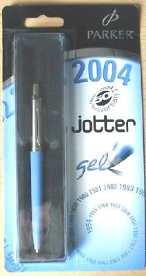 "PARKER JOTTER BLUE "" 50 YEAR "" from 2004 in BOX and UNOPEND SALES PACKING !  !"