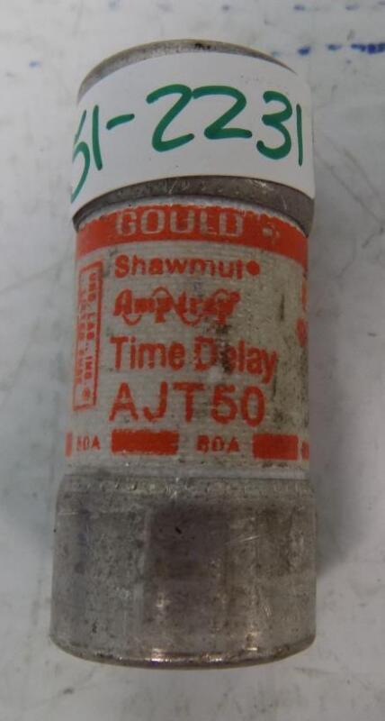 GOULD SHAWMUT AMPTRAP 50A TIME DELAY FUSE AJT50