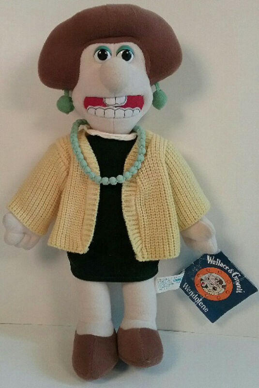 "Wallace & Gromit Wendolene Ramsbottom 16"" Plush Toy Tagged 1989"