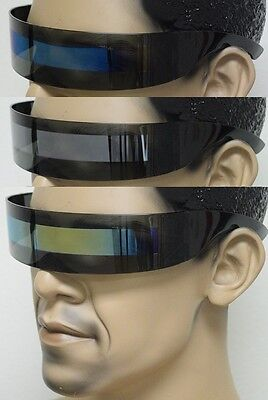 Retro Techno Futuristic Rave Space Robot Visor Shield Style Mirror Sun (Sun Style Mirror)