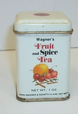 Used, Vintage Wagner's Fruit & Spice Tea Tin for sale  Ferdinand