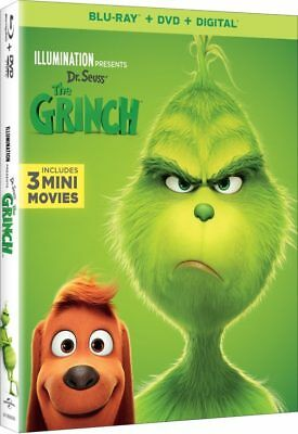 Grinch, The [2019] Blu-ray+DVD+Digital with Slipcover