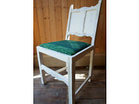 White Wood Panel Chair