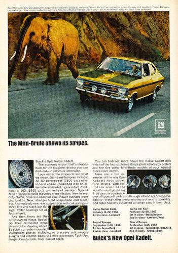 1968 Opel Kadett Mini Brute Vintage Advertisement Ad