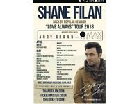 Shane Filan (westlife) x2 Tickets Sheffield city Hall. *aisle seats*
