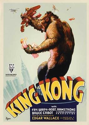 """KING KONG Movie Poster [Licensed-NEW-USA] 27x40"""" Theater Size (1933) B"""