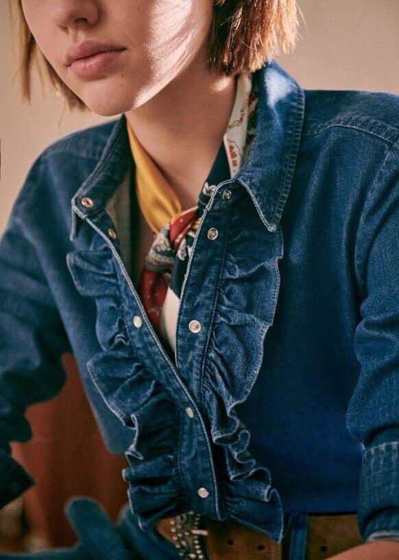 Sezane chemise en jean t42 (40)