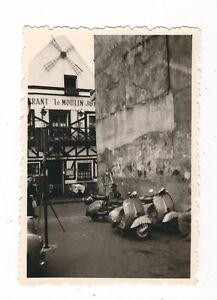 15/76 FOTO MOPED MOTORROLLER VOR GASTHAUS - WINDMÜHLE STEMPEL HACKER ZITTAU DDR