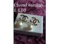 Stunning Chanel pearl stud earrings