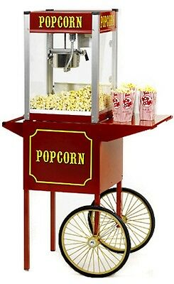 Popcorn Machine Popper Paragon Tp-8 Wcart Theater Pop