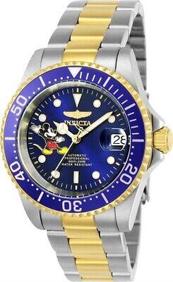 Invicta Men's Watch Disney Automatic Blue Dial Dive Two Tone Bracelet 24754