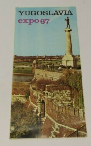 Vintage Yugoslavia Canada EXPO 67 Souvenir Brochure Map Travel 1967
