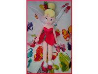Disney soft doll Fairy Tinkerbell Christmas