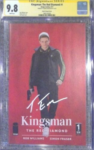 Kingsman: Red Diamond #1 photo variant__CGC 9.8 SS__Signed by Taron Egerton