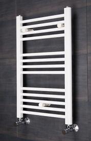 700 x 450 White Towel Rail