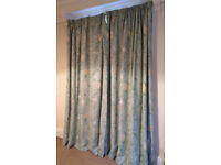 2 pairs of professionally made, thermal black out lined curtains