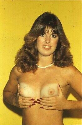 35-0952 Color 35mm Mntd. Slide Trans. Nude Cute Tanlined Brunette