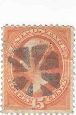 Scott # 163 - 15c Red Orange - Webster - Used - SCV - $150.00