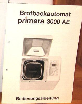 Primera 3000 AE Bedienungsanleitung, gebraucht gebraucht kaufen  Regensburg