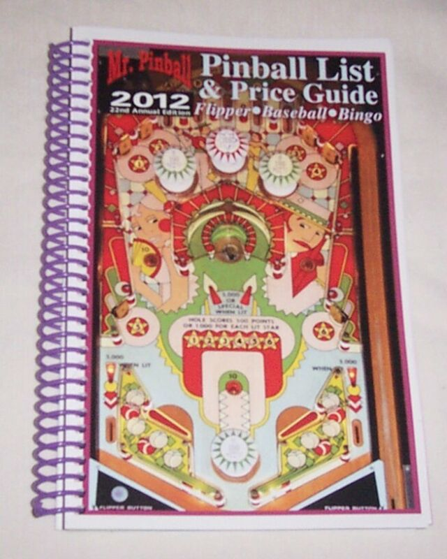 2012 Mr Pinball Price Guide For Pinball Machines Bingo Baseball + Free Ship New!