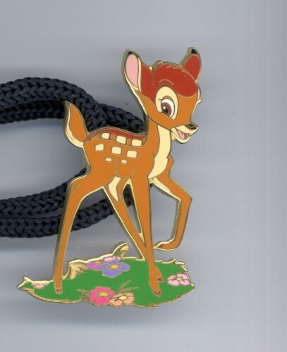 Disney Bambi  Deer Standing Patch of Grass Cast Pin Lanyard ID Tag Holder