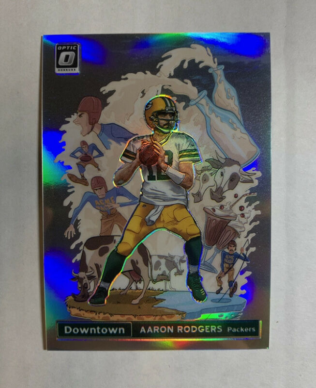 2020 Panini Donruss Optic Aaron Rodgers DOWNTOWN Case Hit SSP Packers #DT-15 MVP