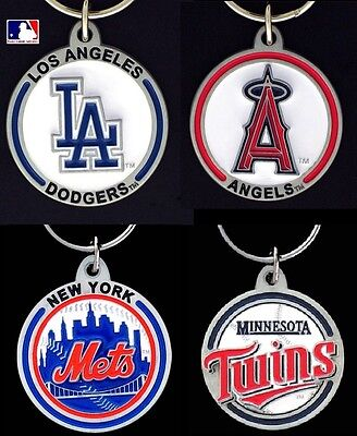 CHOOSE TEAM Key Chain Ring New Official MLB Solid ZincEnameled Keychain Keyring*