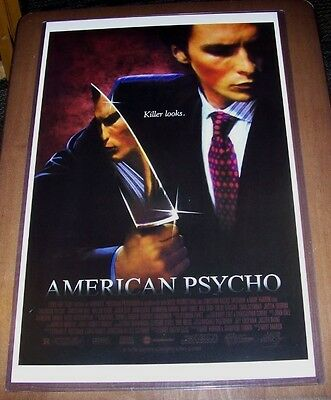 American Psycho Christian Bale 11X17 Original Movie Poster