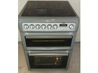 Grey Hotpoint 60cm free standing electric cooker, 4 months warranty