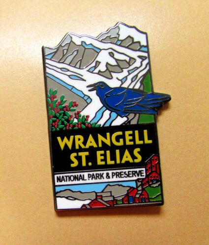Wrangell St Elias National Park Alaska Tie Tac Lapel Pin, Discover Alaska Series
