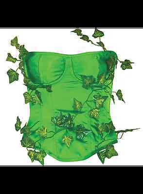 DC Comics LICENSED POISON IVY Deluxe Sz S/M Costume PROP CORSET Lace Up COSPLAY