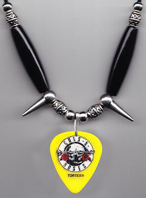 Guns N' Roses Duff McKagan Signature Yellow Guitar Pick Necklace - 2016 Tour GNR