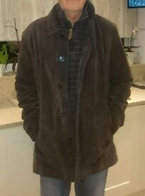 Men's Brown Leather Suede Jacket