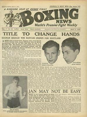 Newspaper Boxing News Fights Wembley S Africa  1951  3