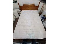 Double bed and mattress, need gone, open to offers.