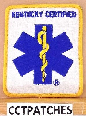 STAR OF LIFE KENTUCKY CERTIFIED EMS EMT PATCH